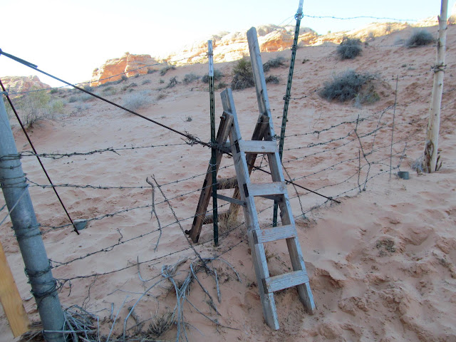 Hiker fence crossing
