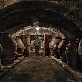 Olio d'oliva cantina by Budiono Tio - Buildings & Architecture Other Interior ( wine cellar, wine, interior, old, cellar, travel, architecture, landscape, restaurant, olive, cantina, olive oil, florence, food, drink, artistic, buildings, firenze, cafe, italy, products, antique )