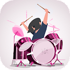 Pink drums - Batterie icon