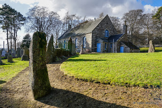 Photo: Midmar Parish Church and Part of Stone Circle, Aberdeenshire