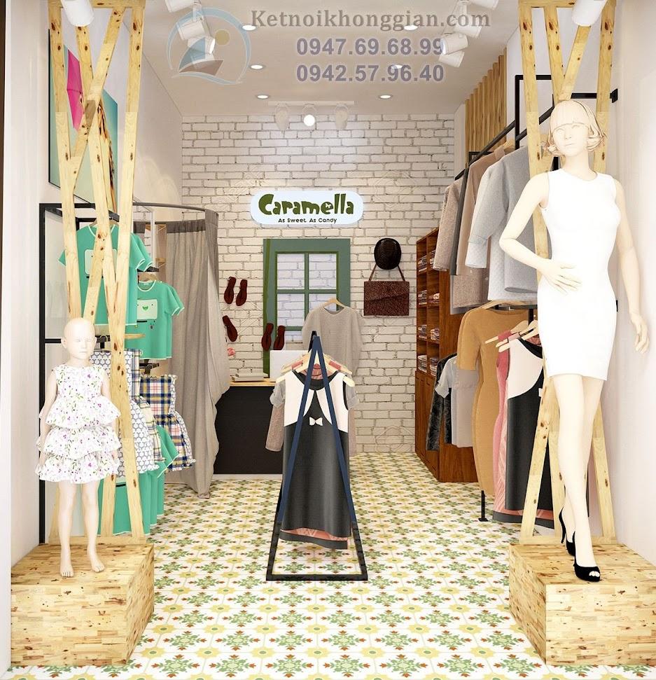 thiết kế shop thời trang mẹ và bé ấn tượng