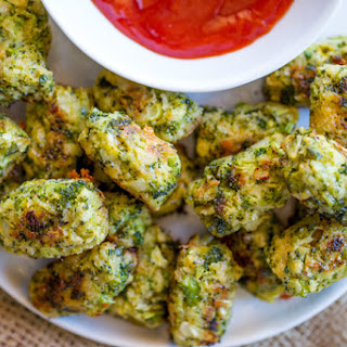 Baked Cheddar Broccoli Tots.