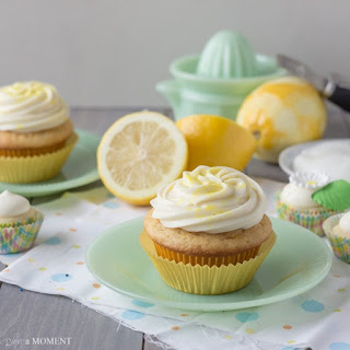 Lemon Greek Yogurt Cupcakes with Cream Cheese Frosting