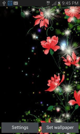 Red Flowers Magic LWP  screenshots 1