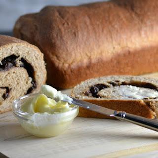 Whole Wheat Cinnamon Raisin Swirl Bread