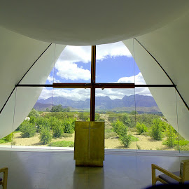 Bosjes wedding chapel.  by Daniel Peter Robertson - Buildings & Architecture Other Interior
