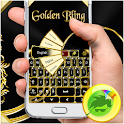 Golden Bling Keyboard icon