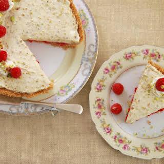 No Bake Raspberry & Pistachio Pie.