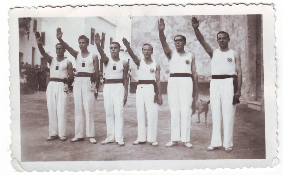 Equipo de pelota a mano de Alhabia en 1945 (Foto: Colección Museos de Terque).