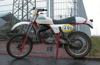 Photo: KTM GS 125 von 1980 bei der Klassikfahrt in Pfungstadt