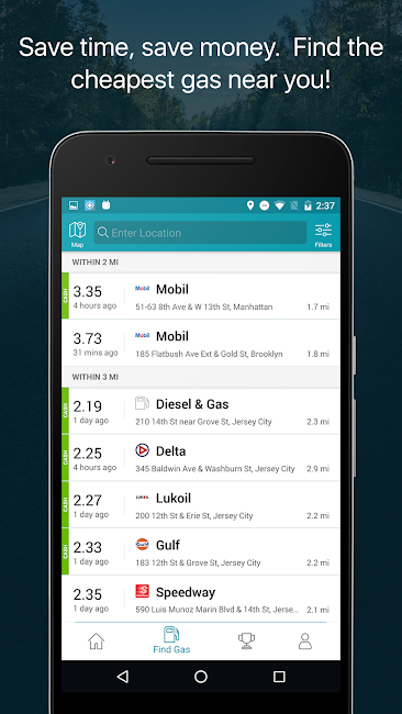 #1. GasBuddy: Find Cheap Gas (Android)