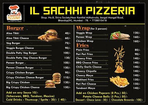 il sachhi pizzeria menu 1
