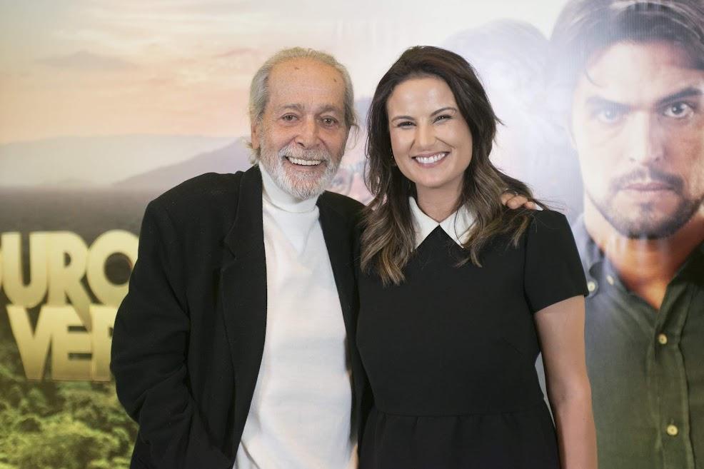 Os atores Gracindo Júnior e Úrsula Corona marcaram na coletiva de imprensa de Ouro verde