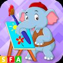 الحيوانات والالوان الممتعة icon