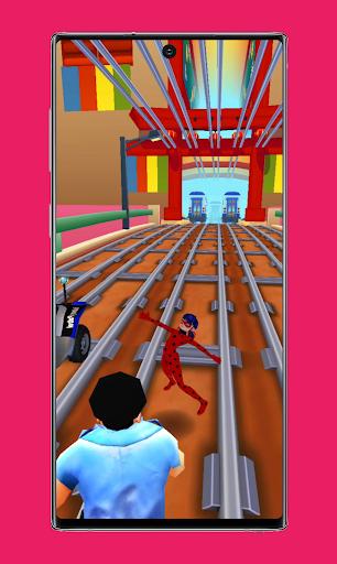 subway Lady Endless jump V3: cat runner noir jogos apktram screenshots 9