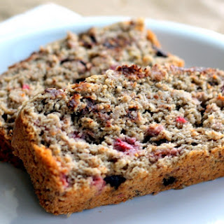 Dark Chocolate Raspberry Oatmeal Banana Bread