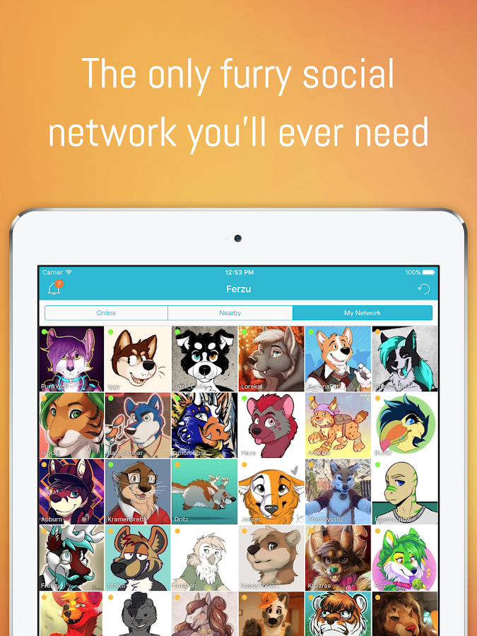 FERZU - Furries Social Network- screenshot