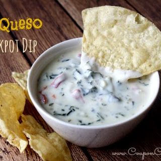 Easy Queso Crockpot Dip.