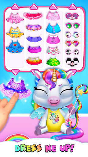 My Baby Unicorn - Virtual Pony Pet Care & Dress Up android2mod screenshots 2