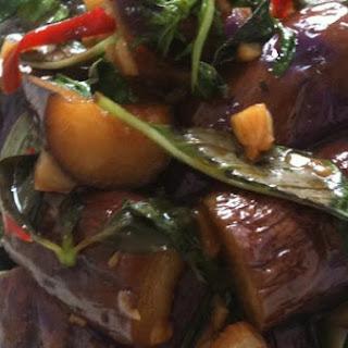 Thai Style Basil Eggplant