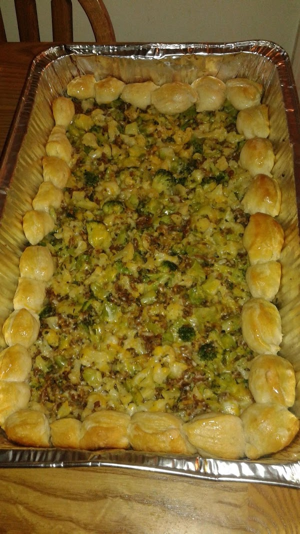 After everything is prep mix Italian sausage, broccoli&cauliflower all together then bake in the...
