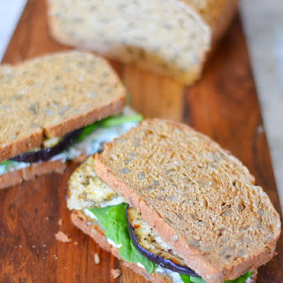 Roasted Eggplant + Herbed Goat Cheese Sandwiches Recipe