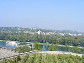 Photo: And at the top, this view across the Rhône to Villeneuve-les-Avignon, which we would tour later in the day, and the famous half-bridge in the foreground.