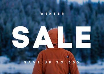 Winter Sale Savings - Photo Card template