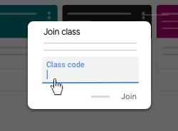 Enter class code