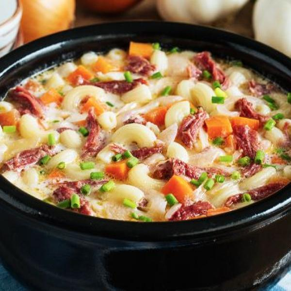 creamy soup dishes macaroni soup