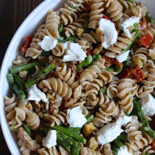 Asparagus & Goat Cheese Pasta Salad.
