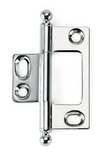 Photo: BH2A-NM-PC-BALL for non-mortised inset cabinet doors in Polished Chrome finish