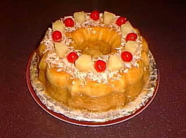Pina Colada Cheese Custard Cake