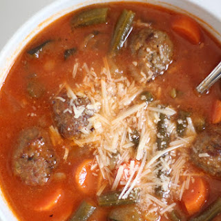 Slow Cooker Meatball Vegetable Soup