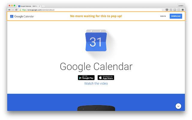 Google Calendar Sign In Delay Fix