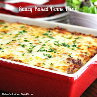 Saucy Baked Penne Pasta.