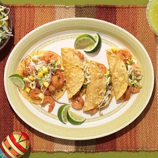Debi Mazar's Island Shrimp Tacos with Cabbage & Pineapple Slaw