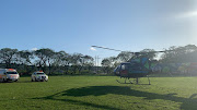 The Lenmed 1 Aeromedical helicopter landed at a nearby field in KwaDukuza to airlift the boy to hospital on Thursday
