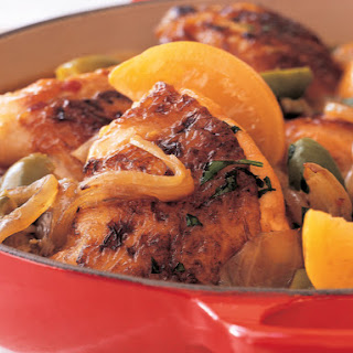 Moroccan Chicken with Green Olives and Preserved Lemons