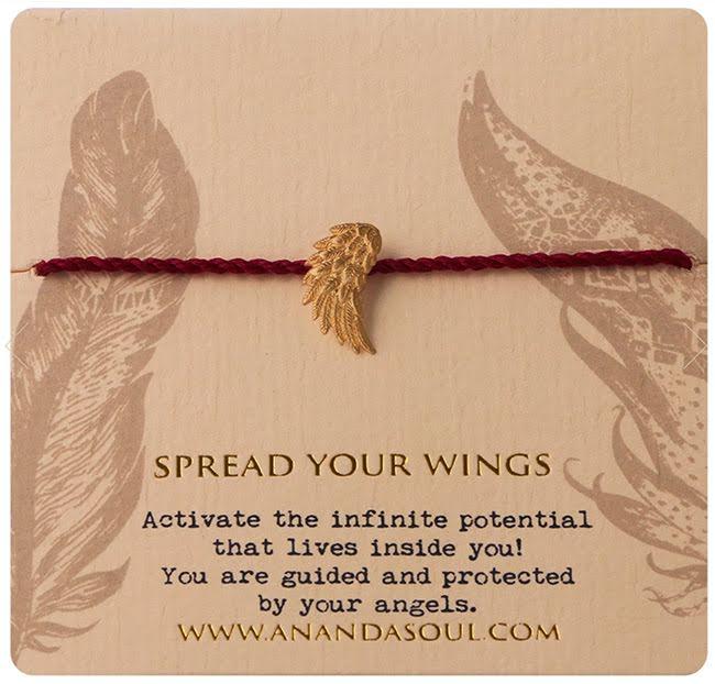 Spread your wings armband guldpläterad mässing