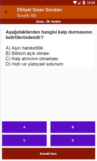 Ehliyet Sinav Sorulari 2020 screenshot 6