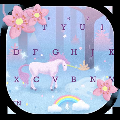 Pink Unicorn Sakura Keyboard