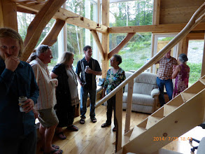 Photo: Our house-warming party, where heros, neighbors, friends, interested folks & relatives celebrated - & learned a li'l.