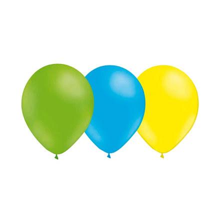 Ballongkombo Limegrön - Ljusblå - Ljusgul