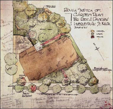 Edna Walling's Garden Plan for Danglow