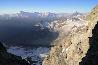 Photo: Výhled na jih - Dufourspitze, Lyskamm, Matterhorn