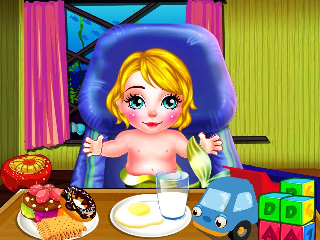 Cute Mermaid Baby Care Apl Android Di Google Play