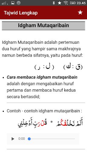 Contoh Bacaan Idgham Mimi : contoh, bacaan, idgham, Tajwid, Quran, Lengkap, Audio, Download, Android, APKtume.com