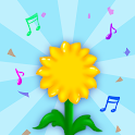 Like a music flower icon