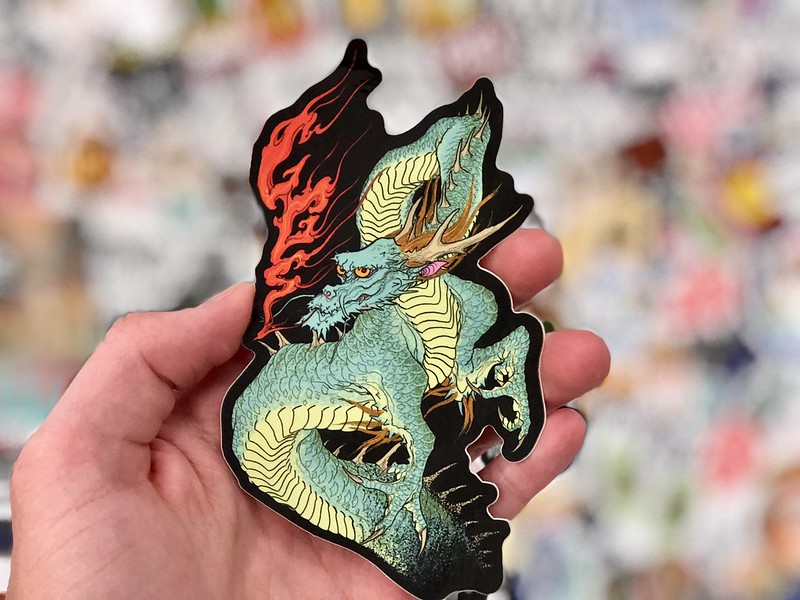 Dragon Sticker by StickerGiant of Flickr.